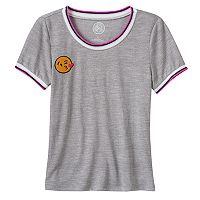Girls 7-16 SO® Embroidered Skinny Tee