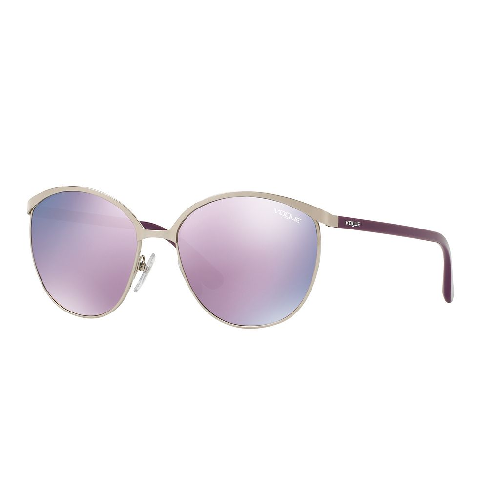 Vogue VO4010S 57mm Round Mirror Sunglasses