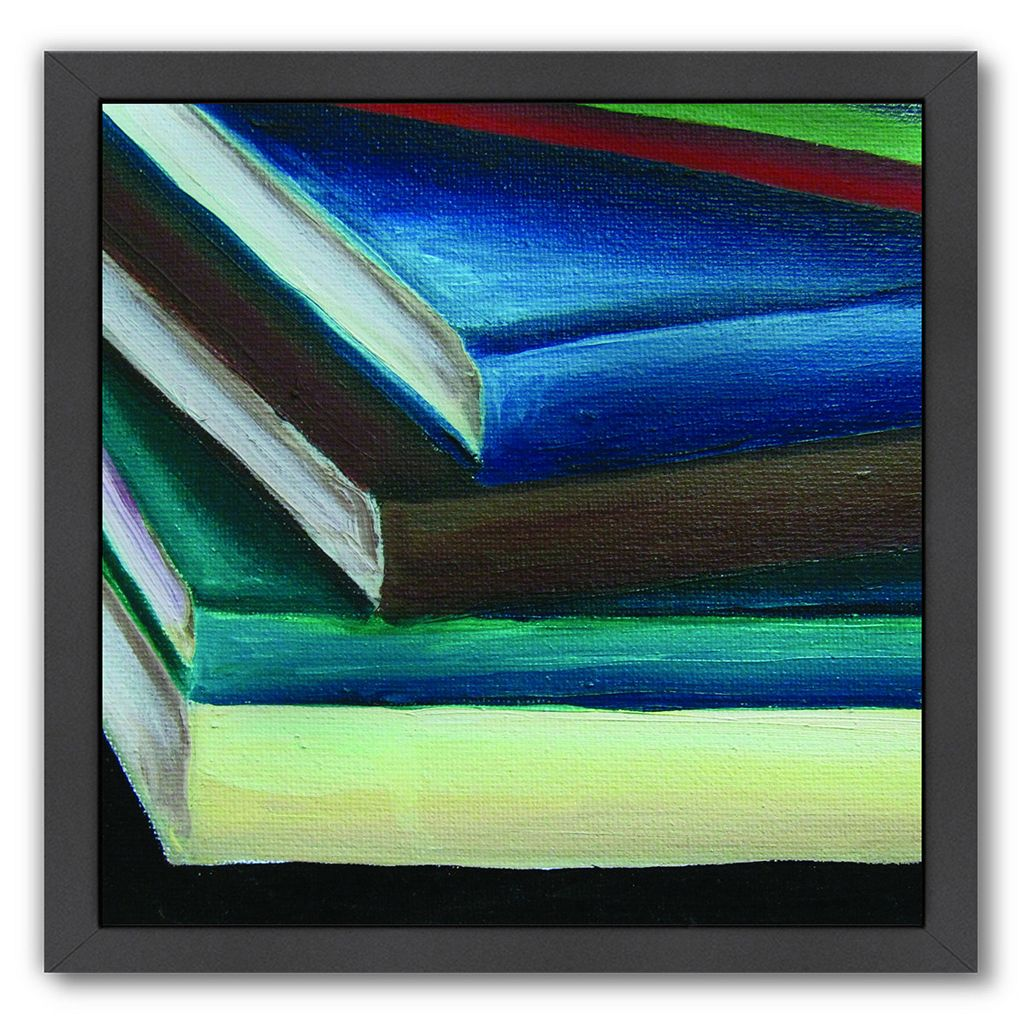 Americanflat All Stacked Up Black Framed Wall Art
