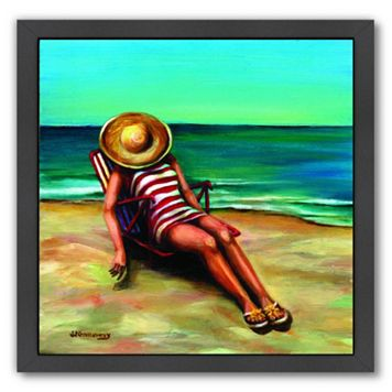 Americanflat Bathing Beauty I Black Framed Wall Art