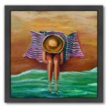 Americanflat Bathing Beauty II Black Framed Wall Art