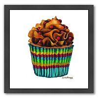 Americanflat Carny Cupcake Black Framed Wall Art