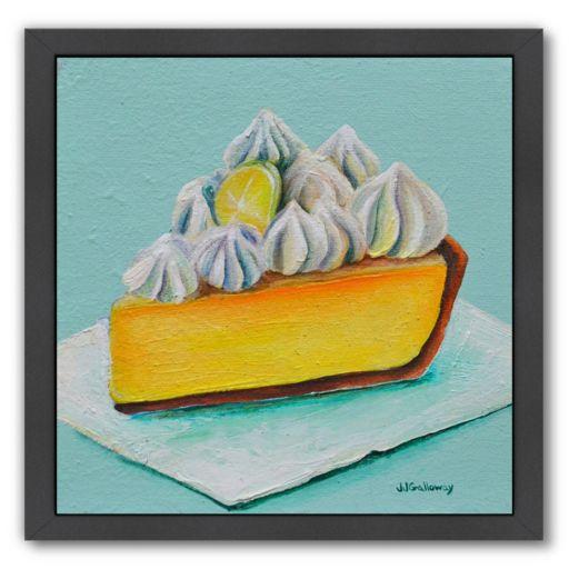 Americanflat Lemon Meringue Black Framed Wall Art