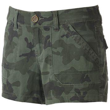 Juniors' Unionbay Drew Twill Camo Shorts
