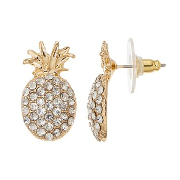 Pineapple Nickel Free Drop Earrings