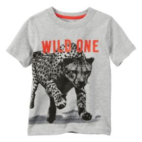 "Toddler Boy Carter's ""Wild One"" Cheetah Wraparound Graphic Tee"
