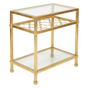 Safavieh Couture Gold Finish Quatrefoil End Table