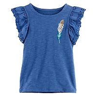 Girls 4-12 SONOMA Goods For Life™ Eyelet Flutter-Sleeved Top