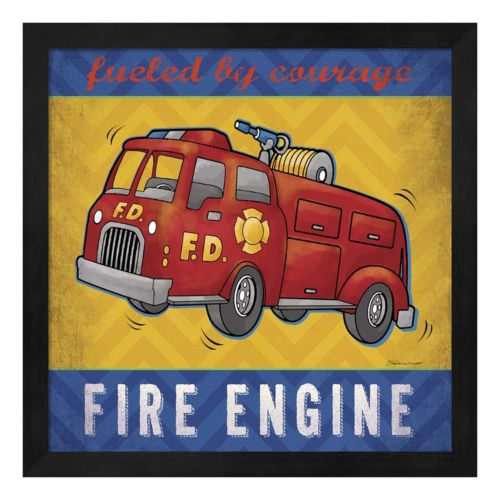 """Fire Engine"" Framed Wall Art"