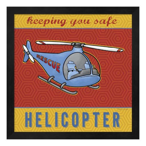 """Helicopter"" Framed Wall Art"
