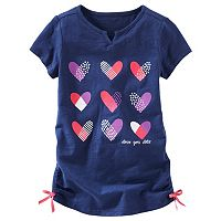 Toddler Girl OshKosh B'gosh® Heart Cinched Tunic