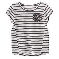 Toddler Girl Jumping Beans® Striped High-Low Hem Tee