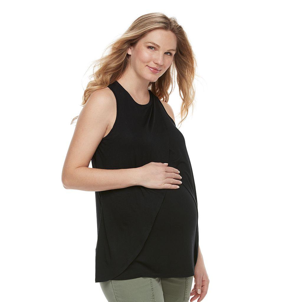 Maternity a:glow Wrap Overlay Nursing Tank
