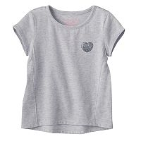Toddler Girl Jumping Beans® Glitter Heart High-Low Hem Tee