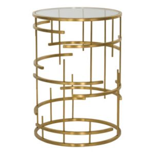 Safavieh Couture Round Gold Finish End Table
