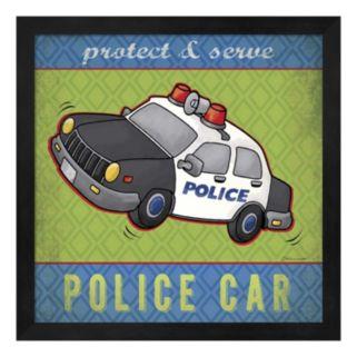 """Police Car"" Framed Wall Art"