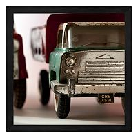 Green Truck Framed Wall Art