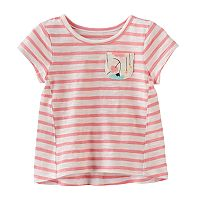 Baby Girl Jumping Beans® Striped High-Low Hem Tee
