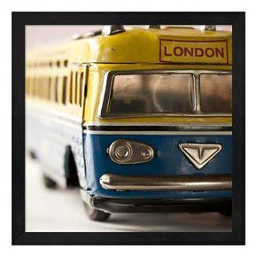 Yellow Bus Framed Wall Art