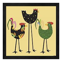 Chickens Incognito 1 Framed Wall Art
