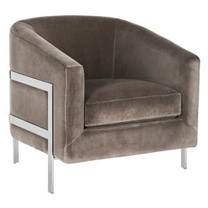 Safavieh Couture Velvet Club Accent Chair