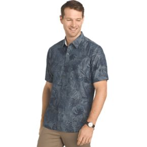 Big & Tall Van Heusen Untucked Regular-Fit Button-Down Shirt