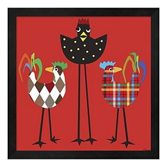 Chickens On The Run 2 Framed Wall Art