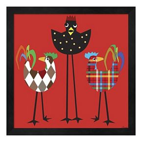Chickens On The Run 2 Framed Wall Art