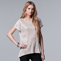 Plus Size Simply Vera Vera Wang Foil Texture Tee