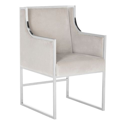Safavieh Couture Arteaga Velvet Arm Accent Chair