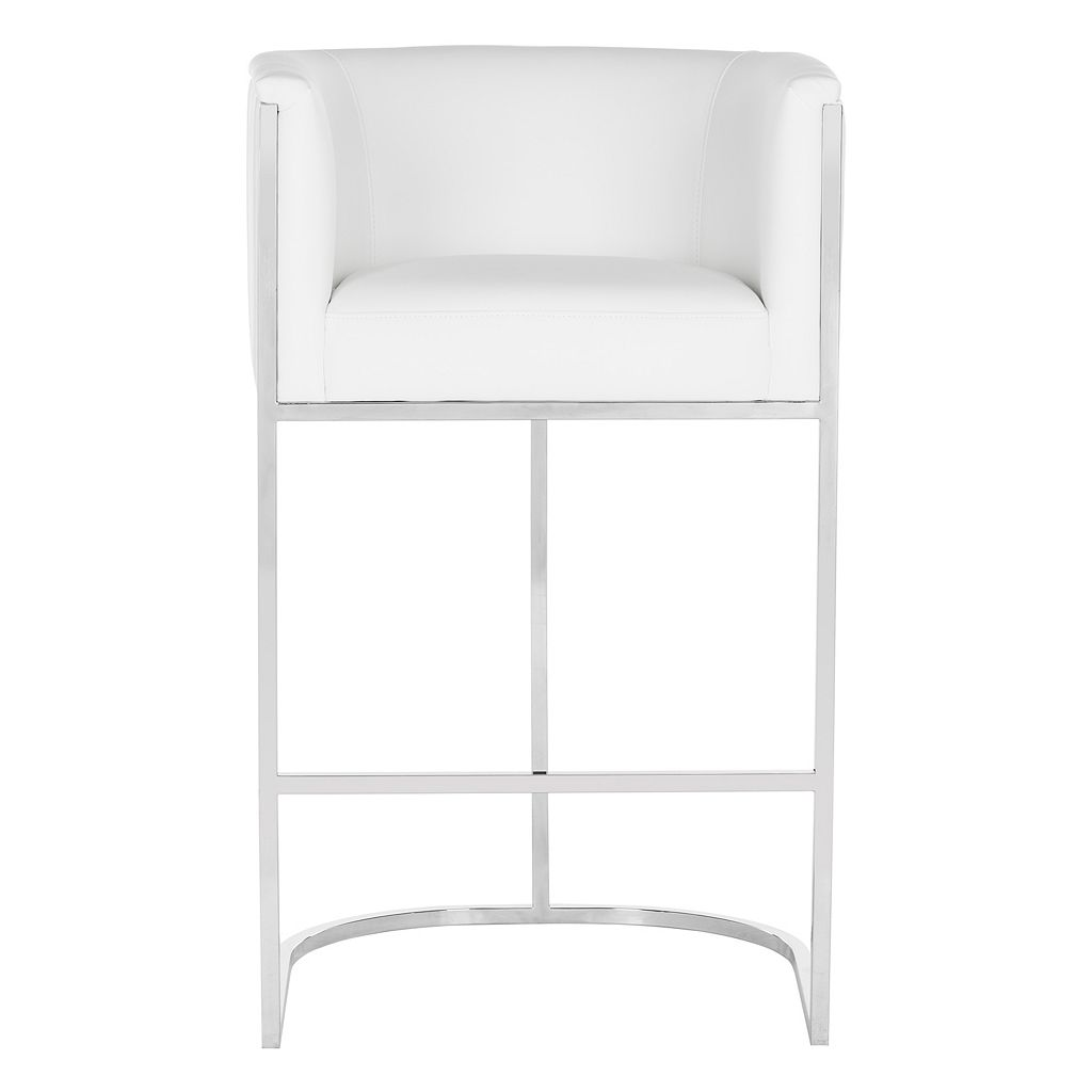 Safavieh Couture Leather Bar Stool
