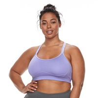 Plus Size Tek Gear® Medium Support Adjustable Front Strap Bra