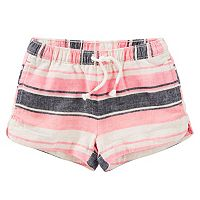 Girls 4-8 OshKosh B'gosh® Striped Linen-Blend Shorts