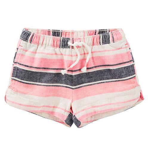 Girls 4-8 OshKosh B'gosh® Striped Linen-Blend Shorts