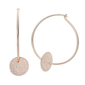 LC Lauren Conrad Glittery Disc Nickel Free Hoop Earrings