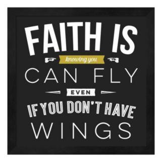 """""""Faith Is"""" Framed Wall Art"""