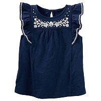 Girls 4-8 OshKosh B'gosh® Embroidered-Yoke Top