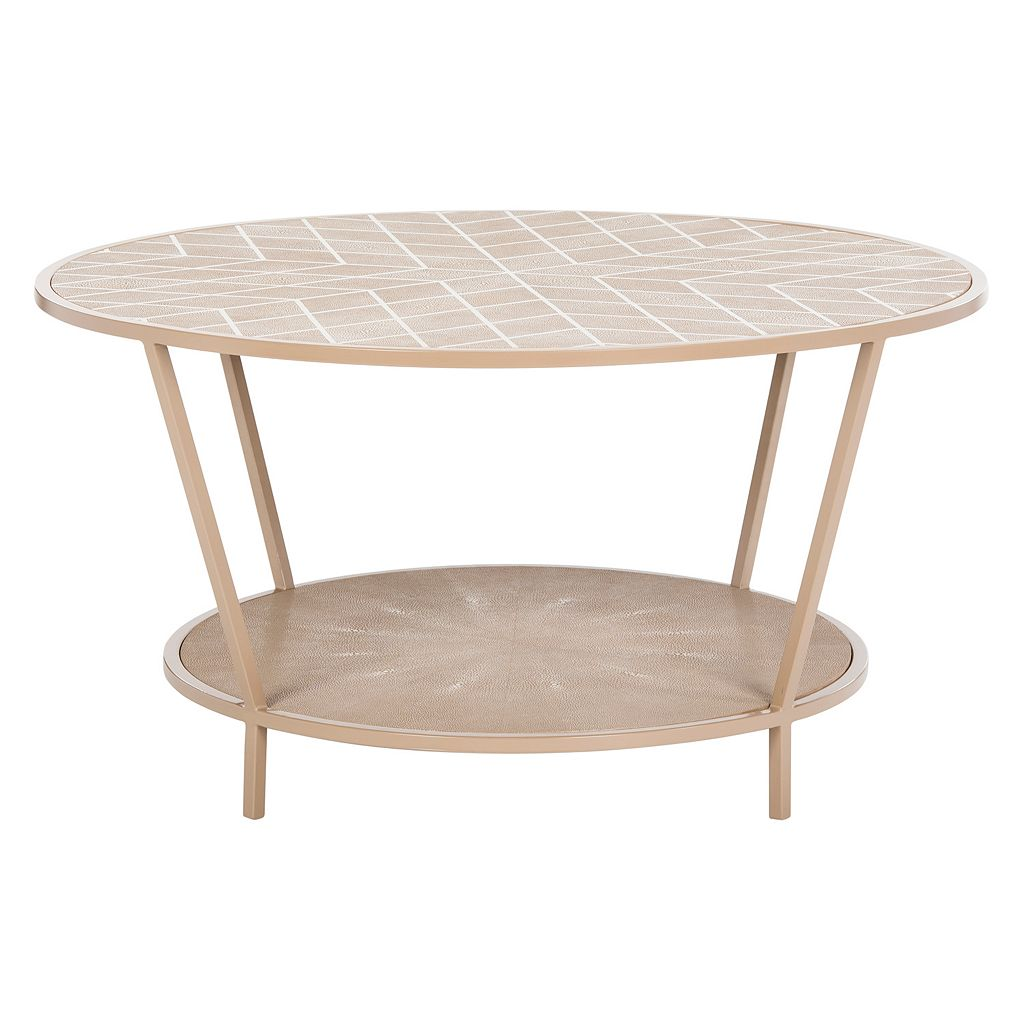 Safavieh Couture Textured Round Coffee Table