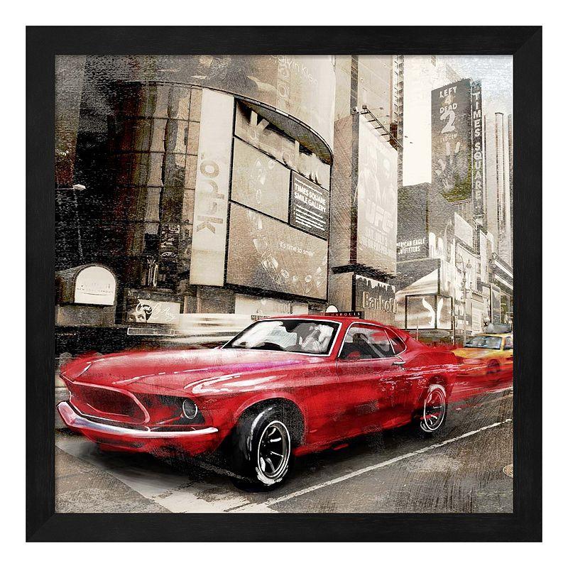 """Red Rocket Framed Wall Art, 12""""X12"""""""