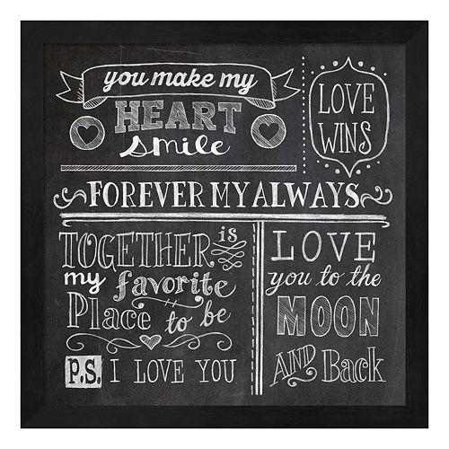 Inspiration Chalkboard I Framed Wall Art