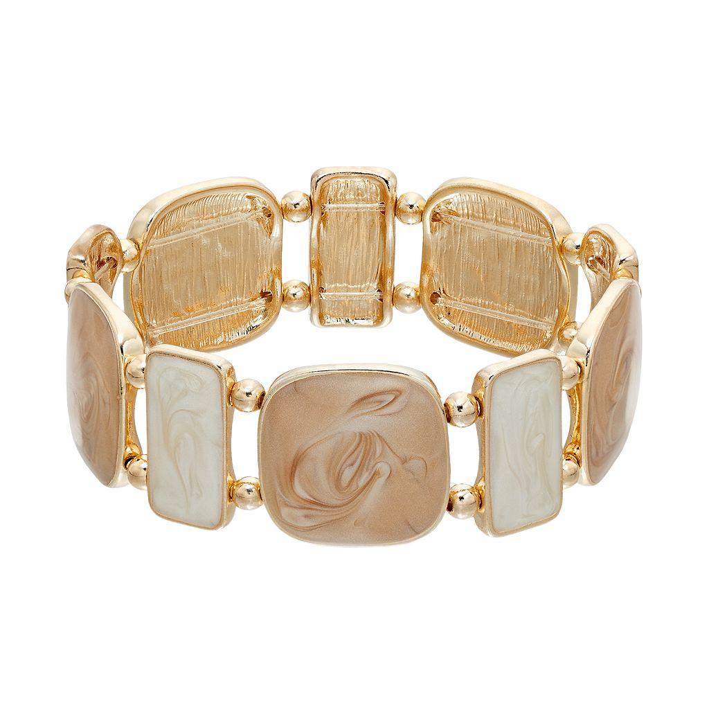 Swirled Geometric Stretch Bracelet