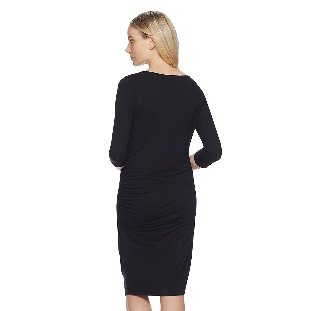 Maternity a:glow Ruched Nursing Dress