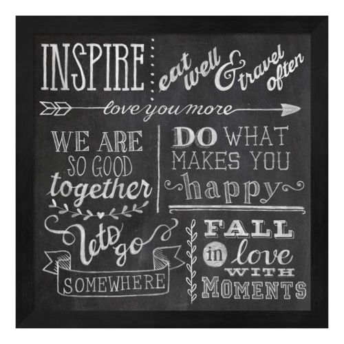 Inspiration Chalkboard III Framed Wall Art
