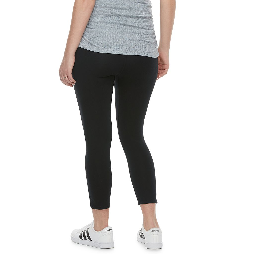 Maternity a:glow Full Belly Panel Capri Leggings
