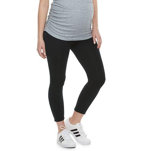 Maternity a:glow Full Belly Panel Capri Leggings