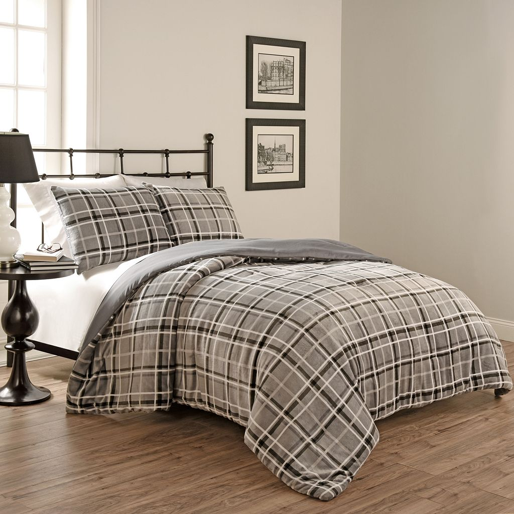 Beauty Rest 3-piece Casimir Plaid Comforter Set