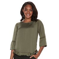 Women's Apt. 9® Ruffle Satin Top
