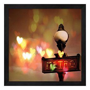 Night Life Paris Framed Wall Art