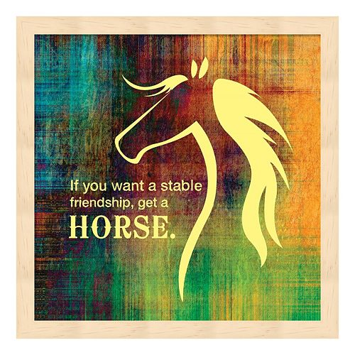 Horse Quote 2 Framed Wall Art