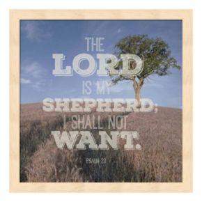 """""""The Lord Is My Shepherd"""" Tree Framed Wall Art"""
